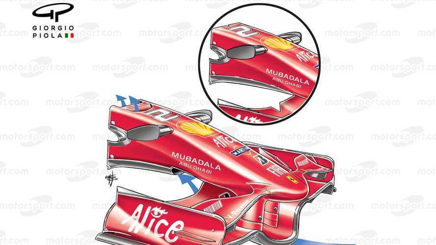 F1, soluzioni vietate come il DAS: il buco nel muso Ferrari