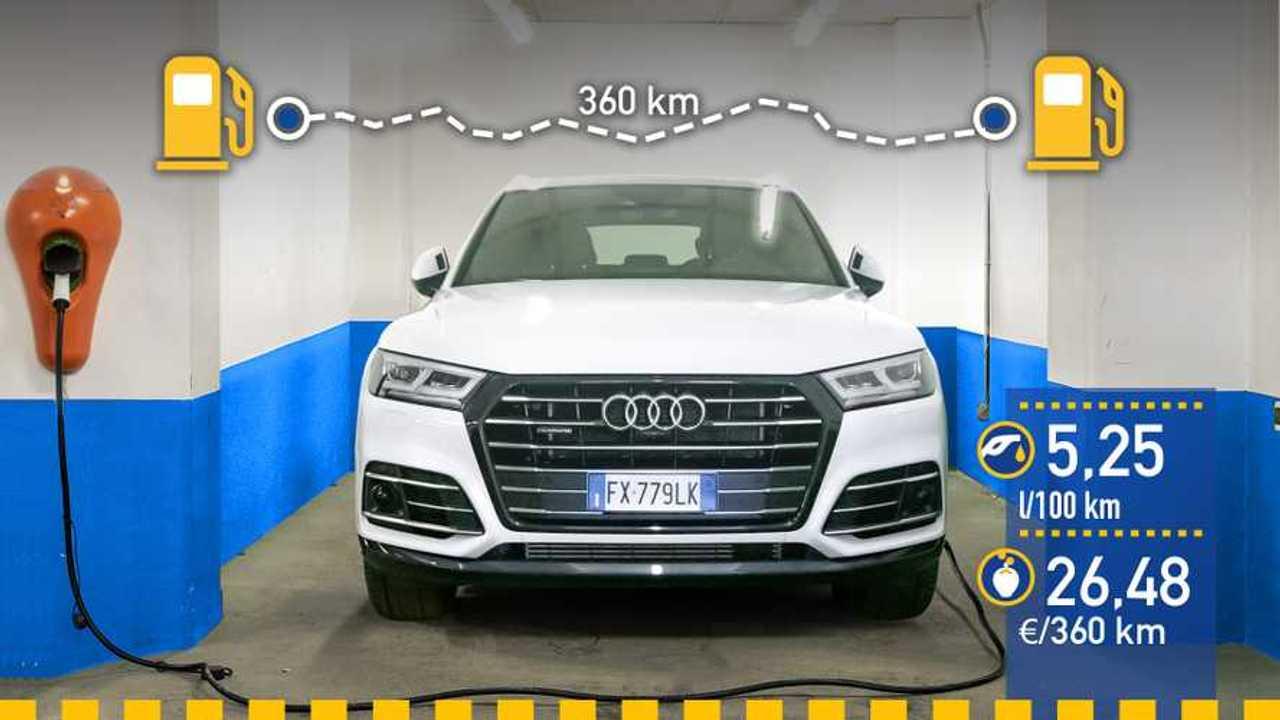 Audi Q5 TFSI e 2020, prueba de consumo