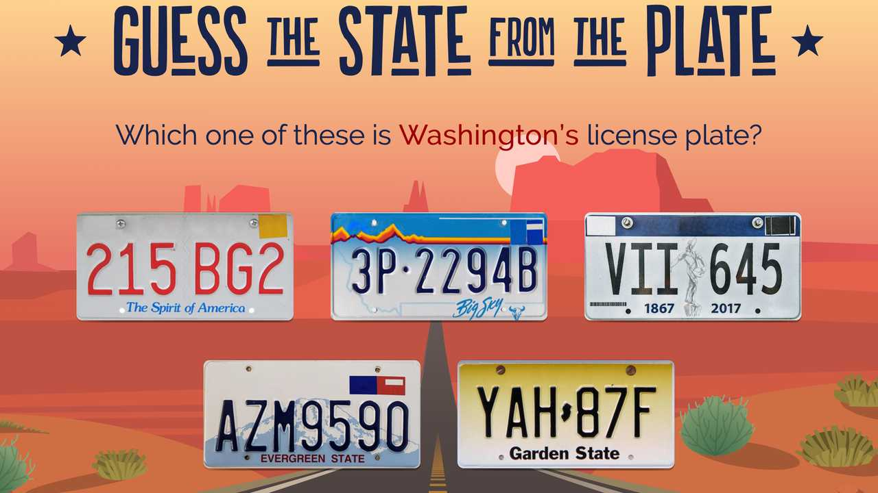 State License Plate Guessing Game