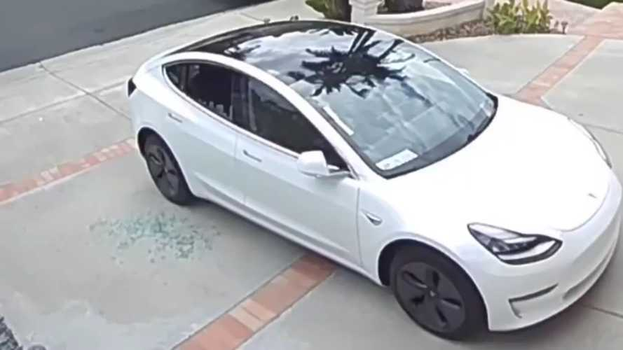 Watch This Tesla Model 3 Window Shatter On Its Own