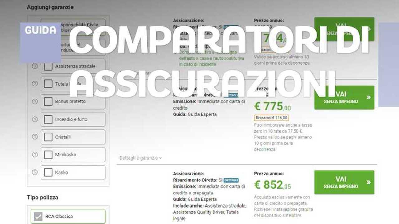 Assicurazione auto, come sceglierla online con i comparatori sotto Coronavirus