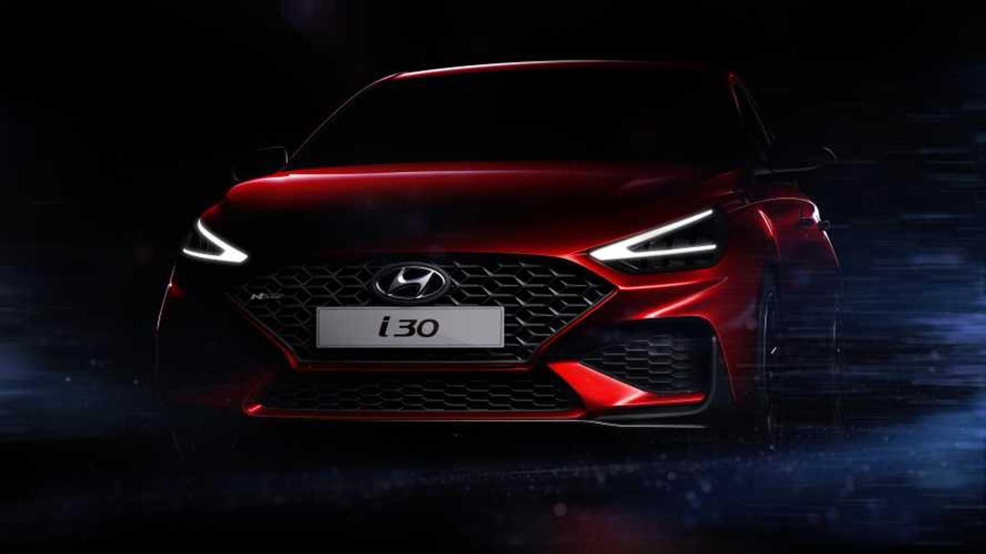 2021 Hyundai I30 N Line Facelift Looks Sharp In Teaser Images