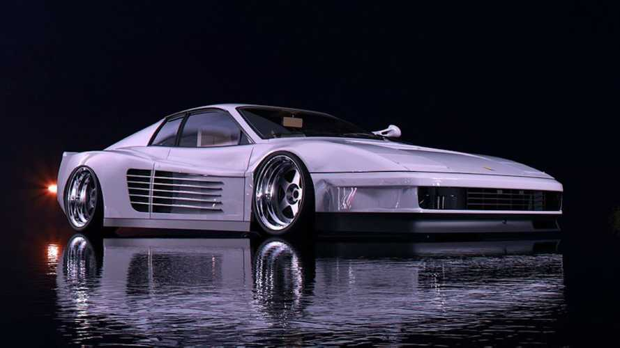 This Ferrari Testarossa Miami Vice Rendering Looks Really Neat