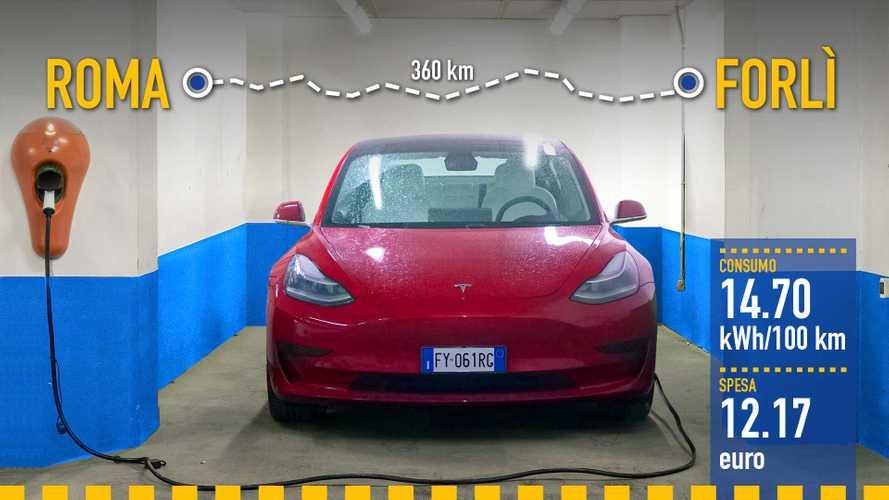 Tesla Model 3, la prova dei consumi reali