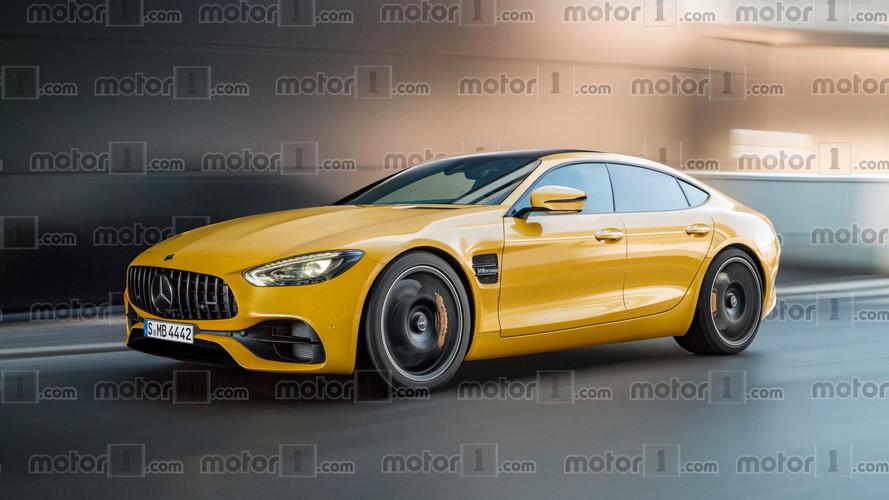Mercedes-AMG GT Sedan render çok hoş görünüyor