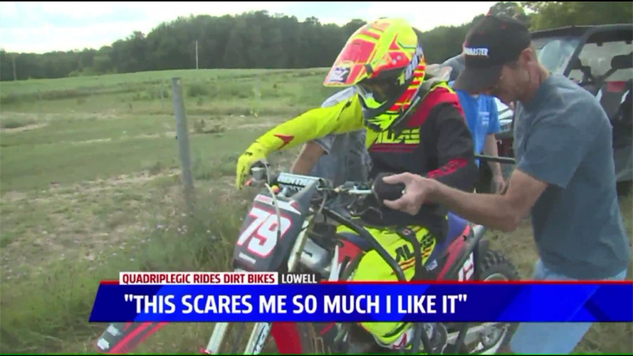 Quadriplegic Michigan Man Returns to Motocross Racing