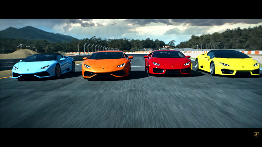 Lamborghini Huracan model range races against time in new video