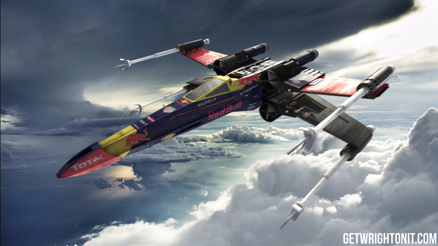 Star Wars X-Wing is oddly cool in F1 colors
