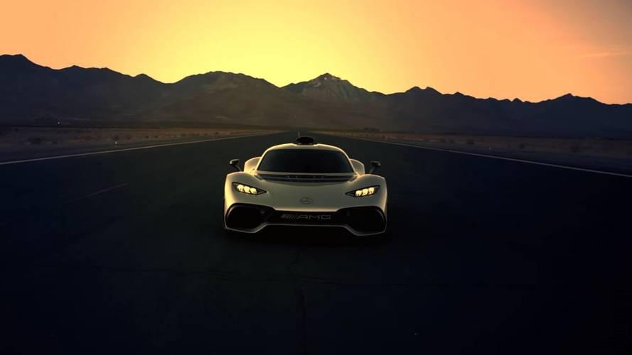 Mercedes-AMG Project One dururken bile hızlı görünüyor