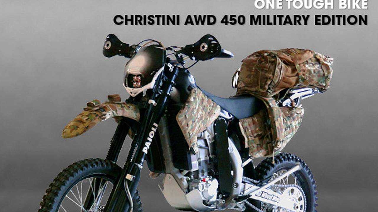 An AWD motorcycle for the Special Forces