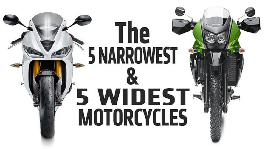 5 Narrowest and 5 Widest Motorcycles