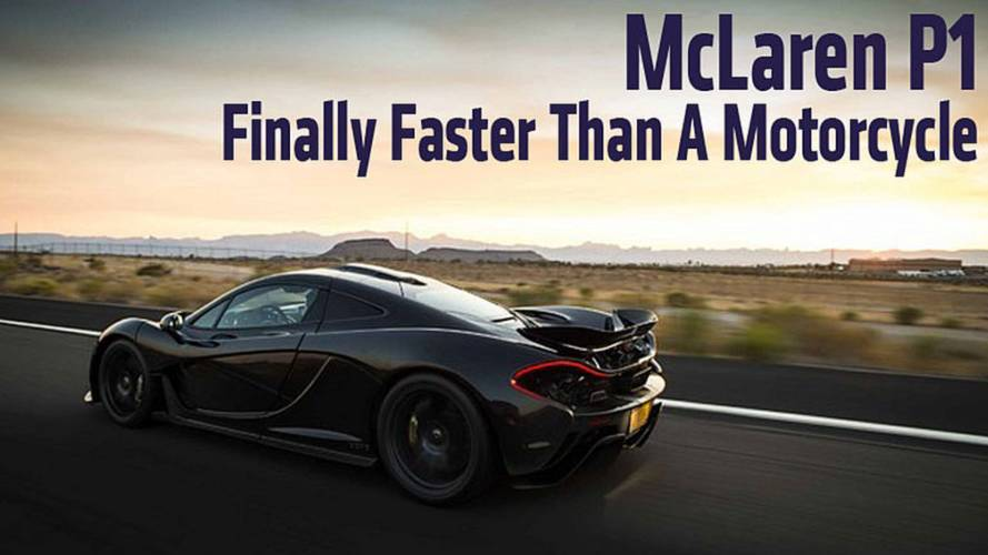 McLaren P1 – Finally Faster Than A Motorcycle