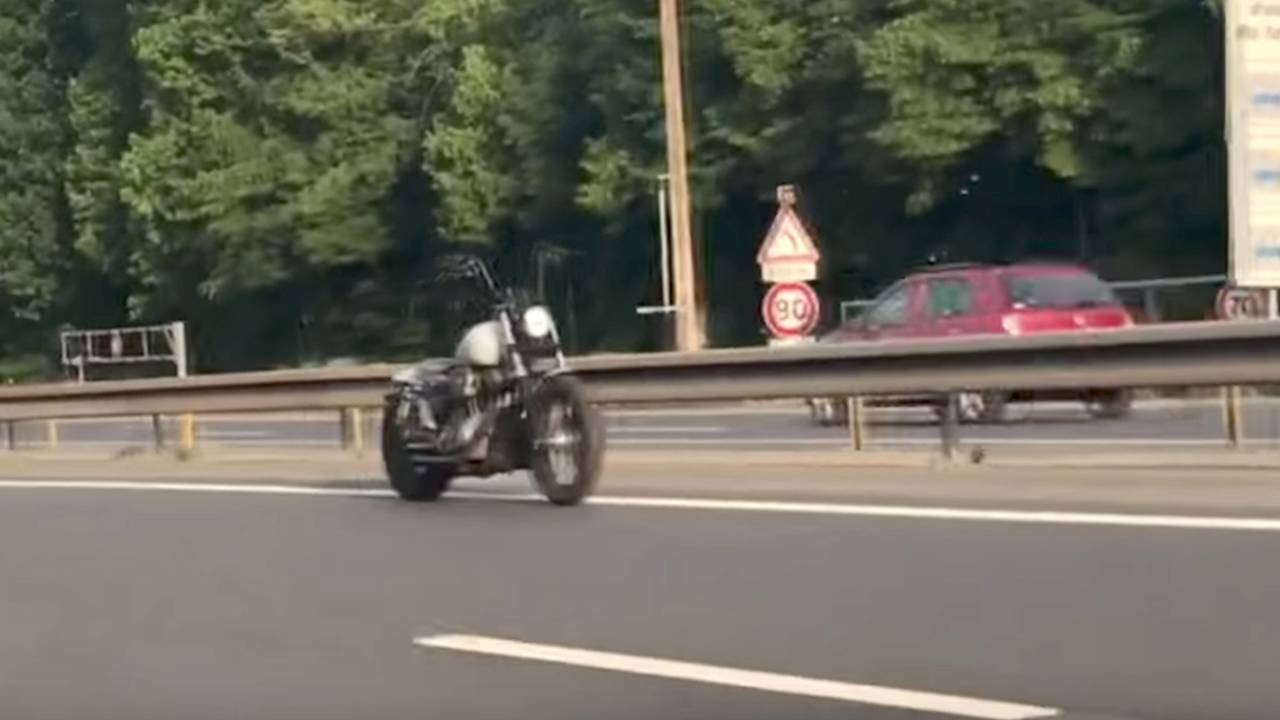 Ghost Motorcycle Spooks Motorists on Paris Highway