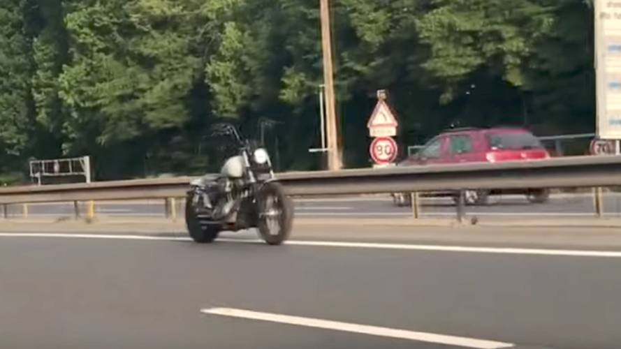 Ghost Motorcycle Spooks Motorists on Paris Highway