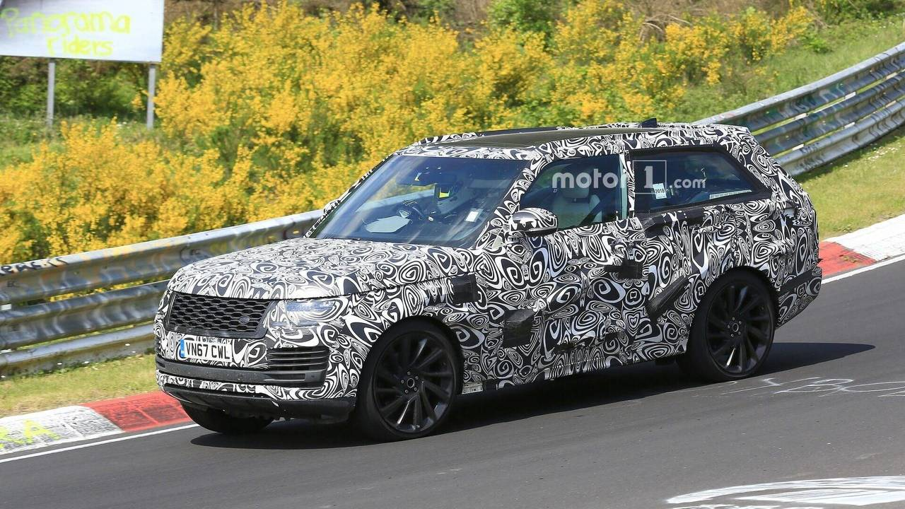 Range Rover SV Coupe spy photo