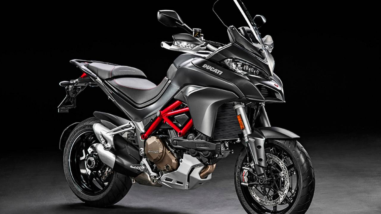 <strong>The 2017 Multistrada 1200 S will be offered in this spiffy grey (with an -E, color scheme).</strong>