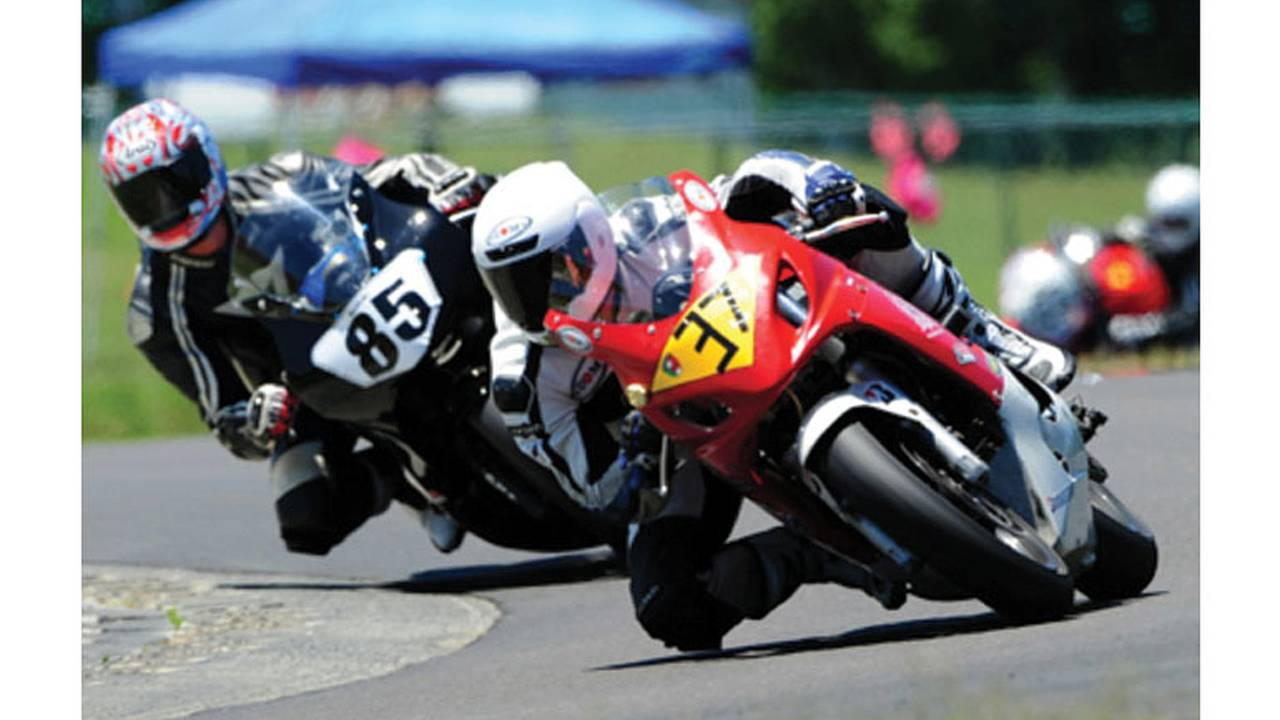 Leading into turn 5 at Virginia International Raceway.