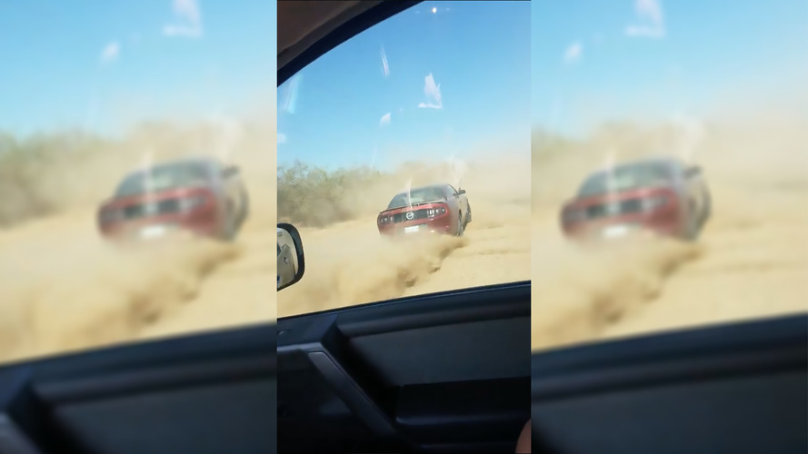Camera Car Ends Up With Smashed Windows After Mustang Does Donut