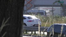 2019 Mercedes GLC Coupe facelift screenshot from spy video