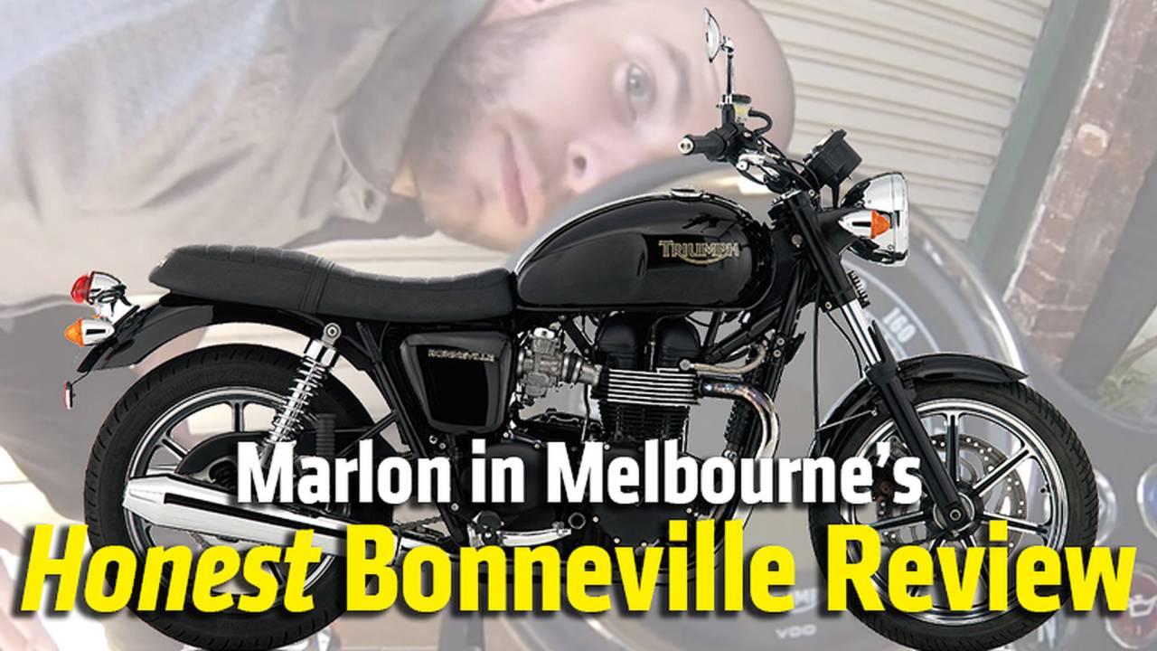 Marlon in Melbourne's Honest Bonneville Review