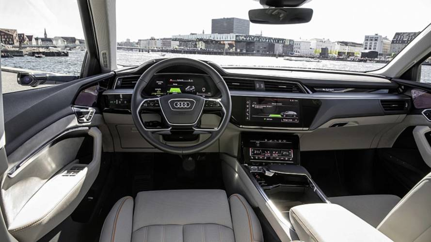 Audi E-Tron Reveals High-Tech Interior With Five Screens
