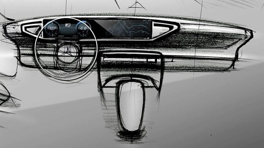 Nuova Mercedes GLE, i bozzetti della plancia