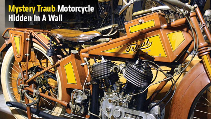 Mystery Traub Motorcycle Hidden In A Wall