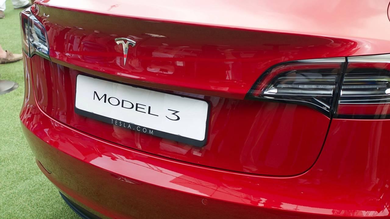 Tesla Model 3 au Festival of Speed de Goodwood 2018