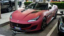 Ferrari Portofino with Matte Red Exterior