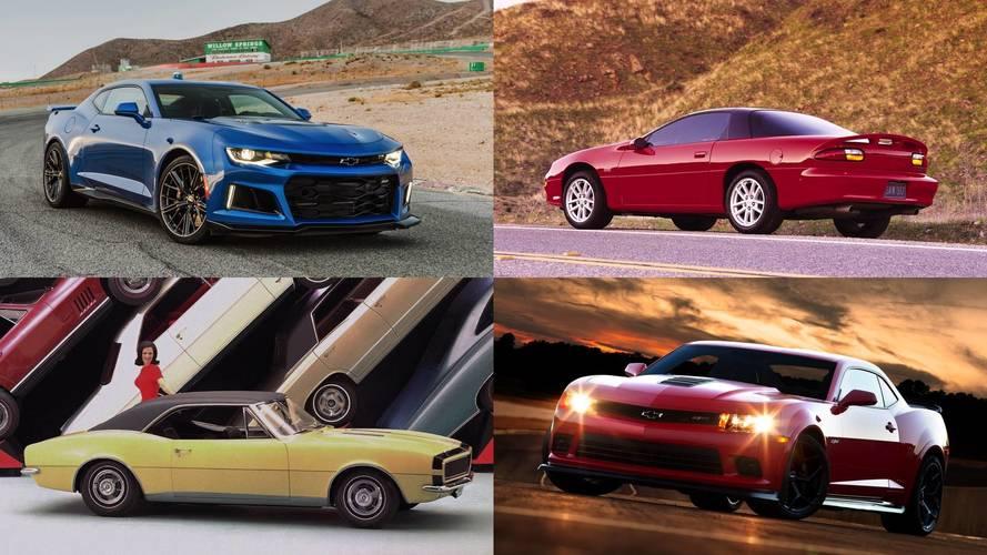 Tüm zamanların en iyi 15 Chevrolet Camaro modeli