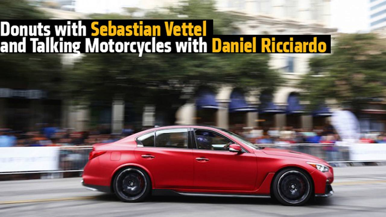 Donuts with Sebastian Vettel and Talking Motorcycles with Daniel Ricciardo