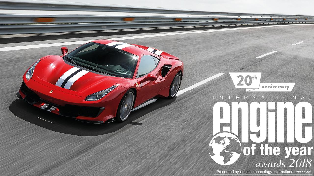 Ferrari V8 biturbo, Motore dell'Anno 2018
