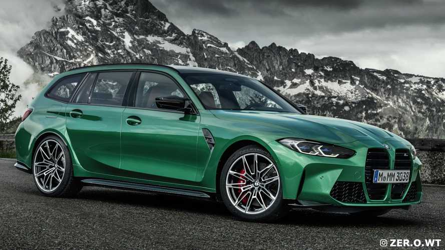 BMW M3 Touring render - üretim renkleri