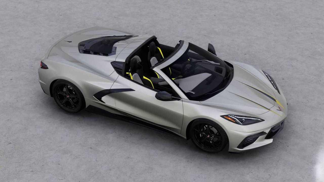 2021 Chevy Corvette High Angle Quarter Visualizer