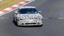 2021 Audi E-Tron GT spy photos from the Nurburgring