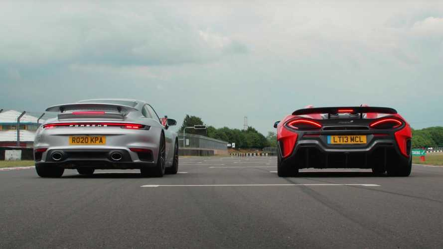 Porsche 911 Turbo S vs McLaren 600LT drag race has a clear winner