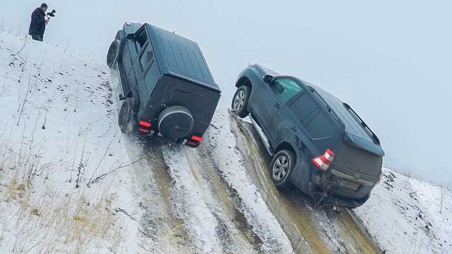 Watch European, Japanese, and Russian SUVs attack a steep snowy hill