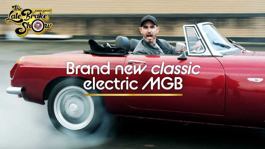 Jonny Smith drives the classic MGB converted to run on electricity