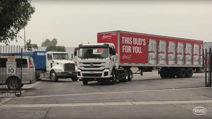 BYD Class 8 Electric Trucks Are Hard At Work: Video