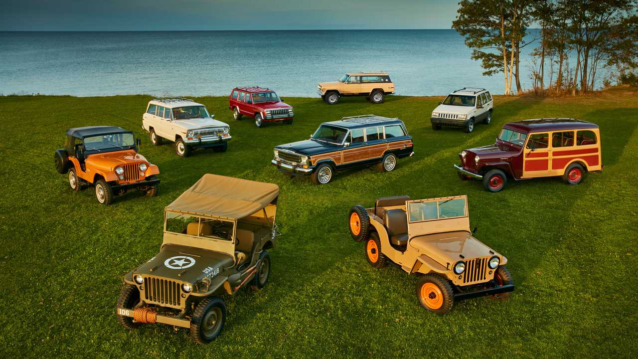 Jeep, 80 years through the models