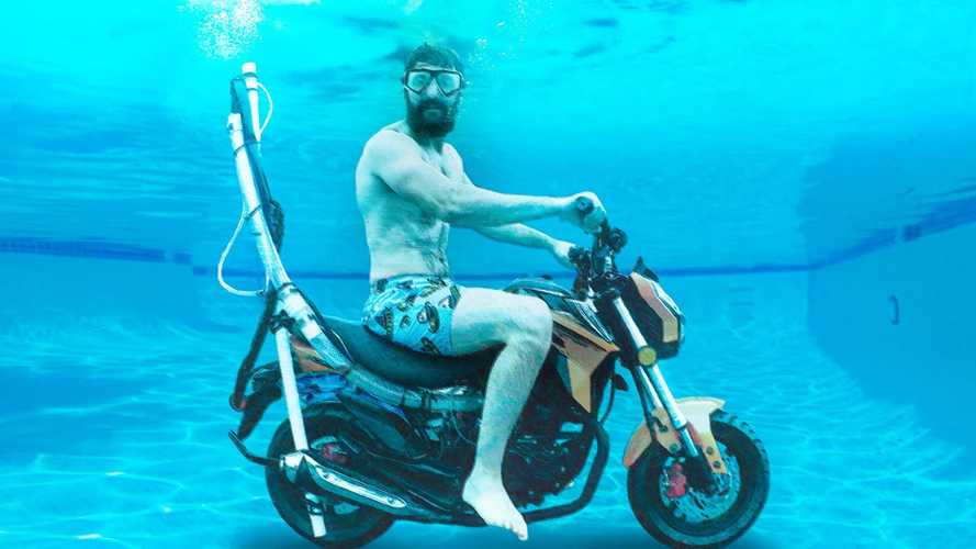 Can you run a motorcycle under water?