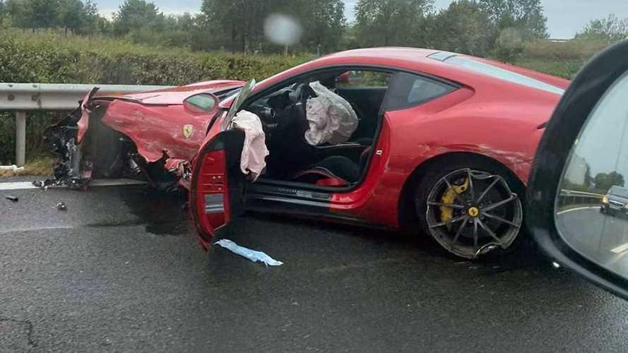 Durván összetört egy méregdrága Ferrari az M3-ason – képekkel