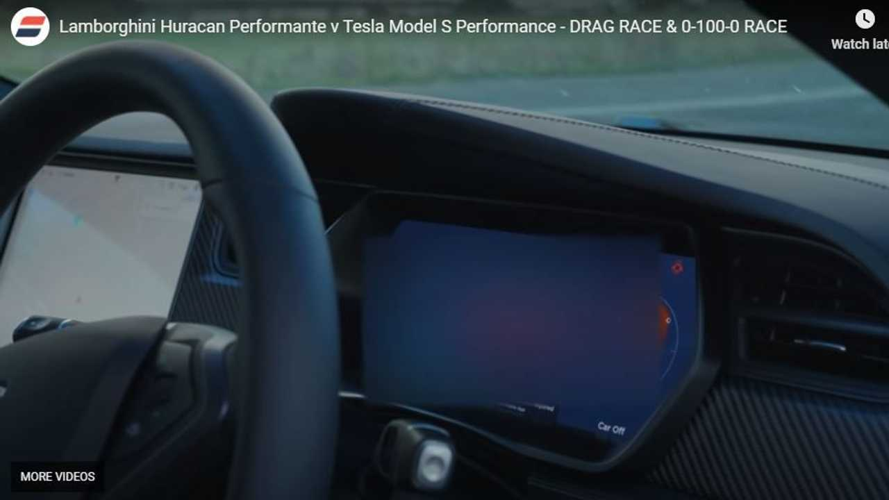 UPDATE 2: Watch Lamborghini Huracan Performante Race Tesla Model S Cheetah