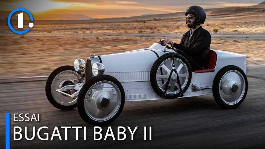 Essai Bugatti Baby II - 70 km/h n'ont jamais paru aussi rapides