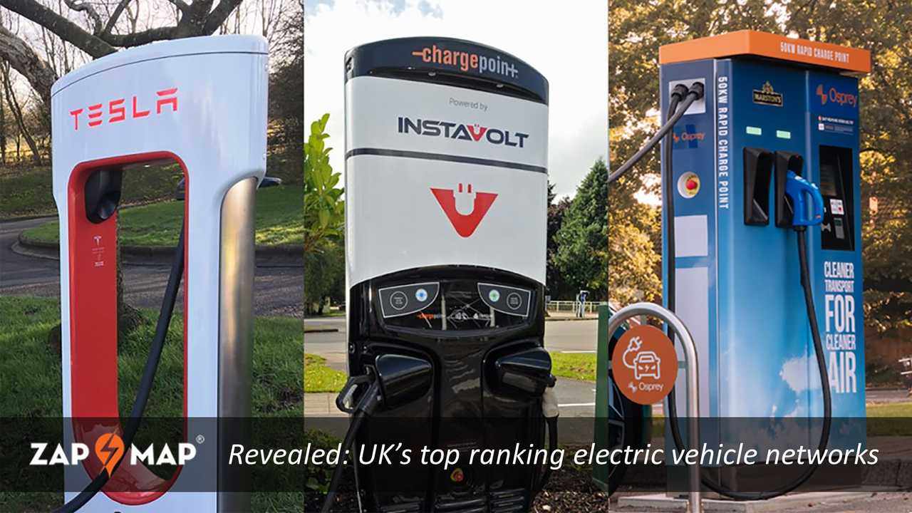 UK's top ranking electric vehicle networks - January 2021 (Zap-Map)