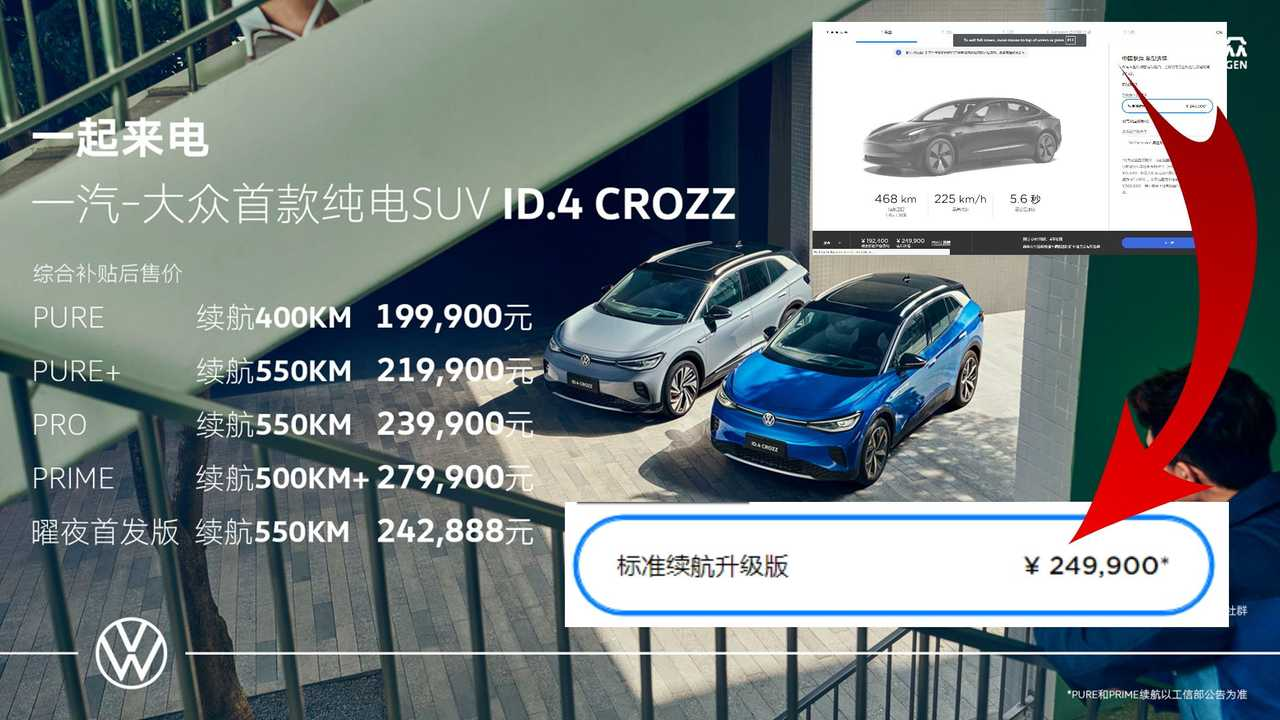 VW Releases ID.4 Prices In China: It's Cheaper Than The Tesla Model 3