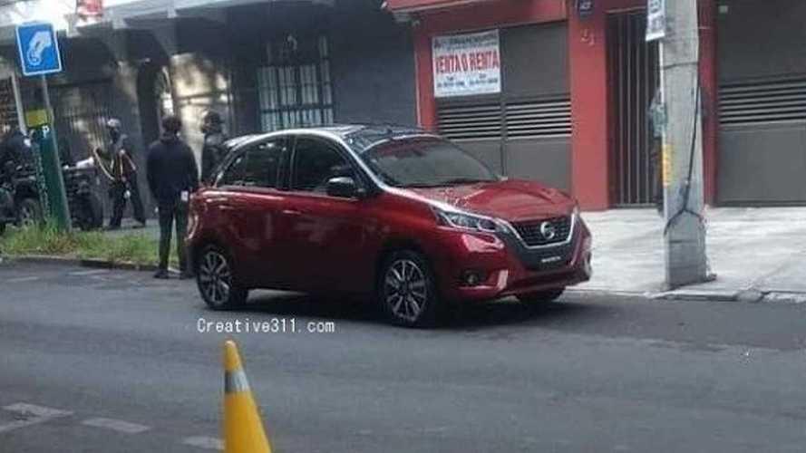 Flagra: Nissan March ganhará cara do novo Versa no México