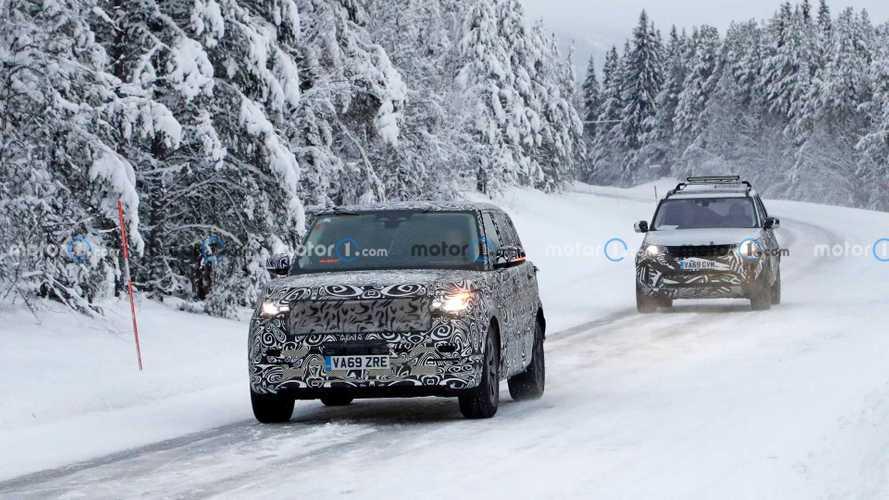 2021 Land Rover Range Rover karlı hava casus fotoğrafları