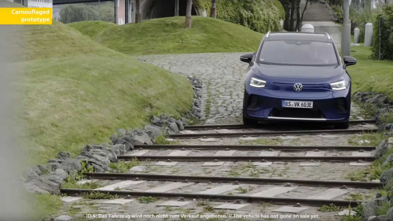 Volkswagen ID.4 camouflaged prototype