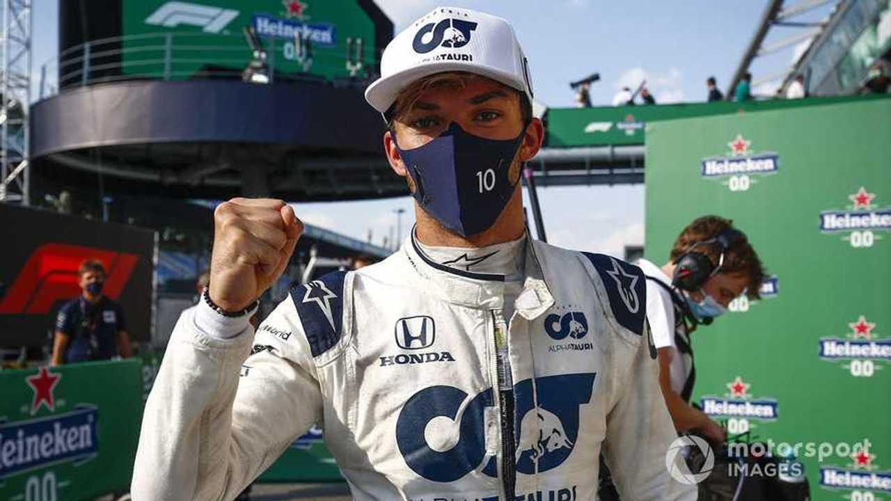 Race Winner Pierre Gasly at Italian GP 2020